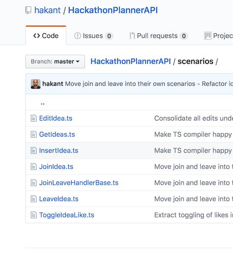 Hackathon Planner Scenarios