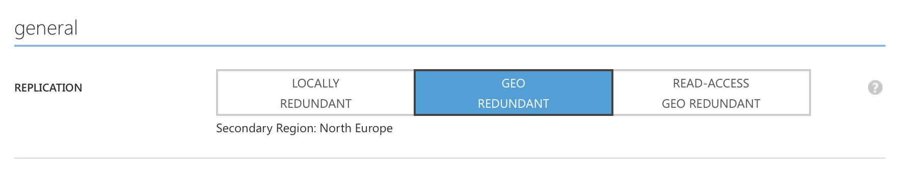 Azure Storage Geo Redundancy