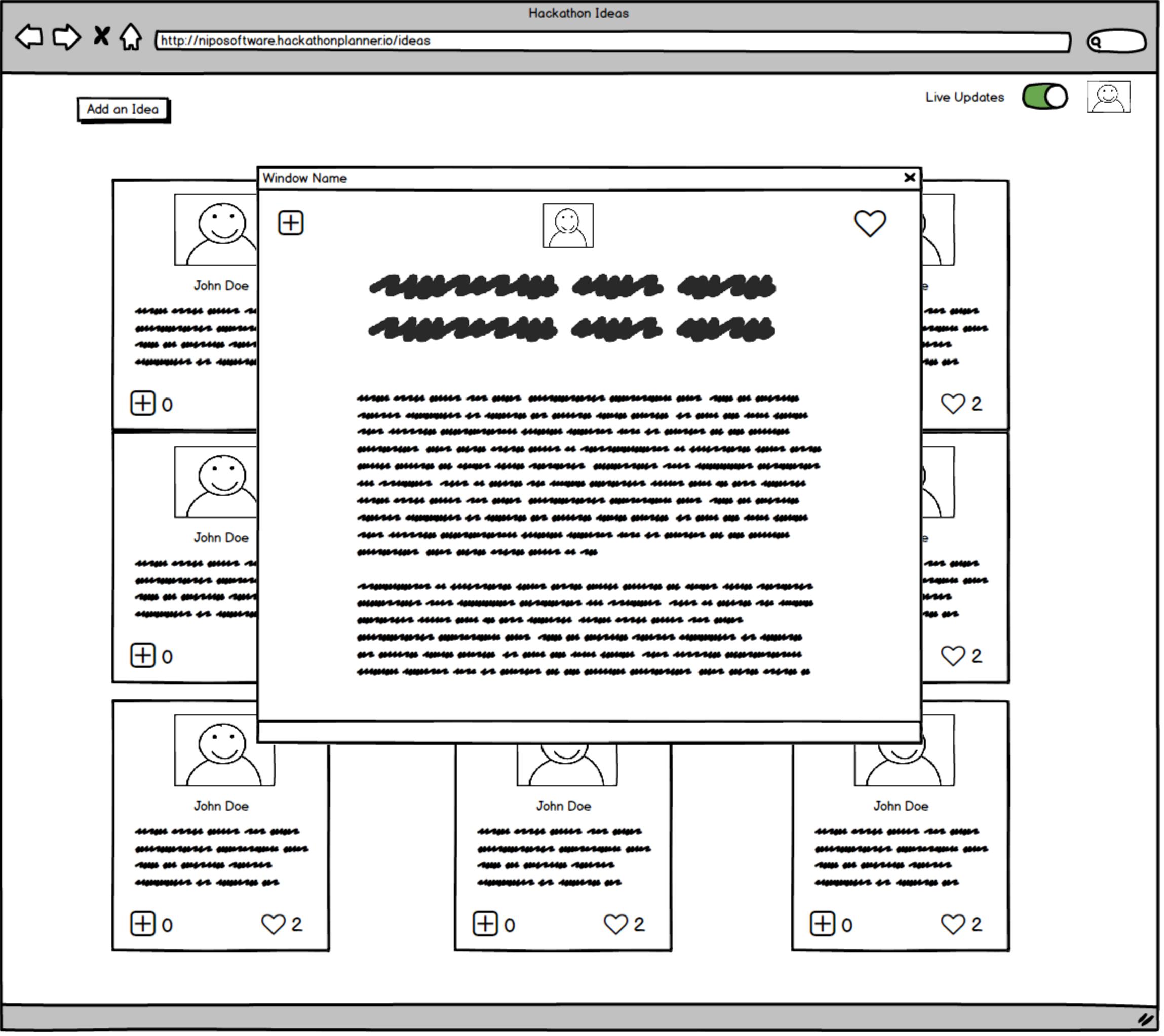 Hackathon Planner - Mockup