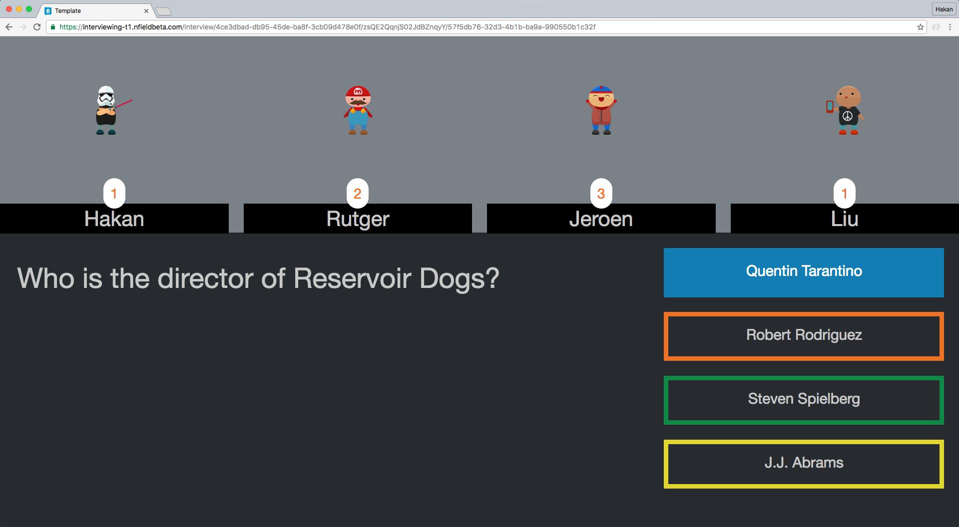 Hackathon - Nfield Quiz - Screenshot